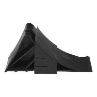 cale cu support din plastic negre pentru roți